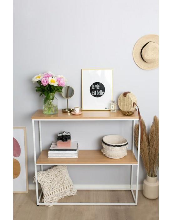 HELEN - biała konsola z półką