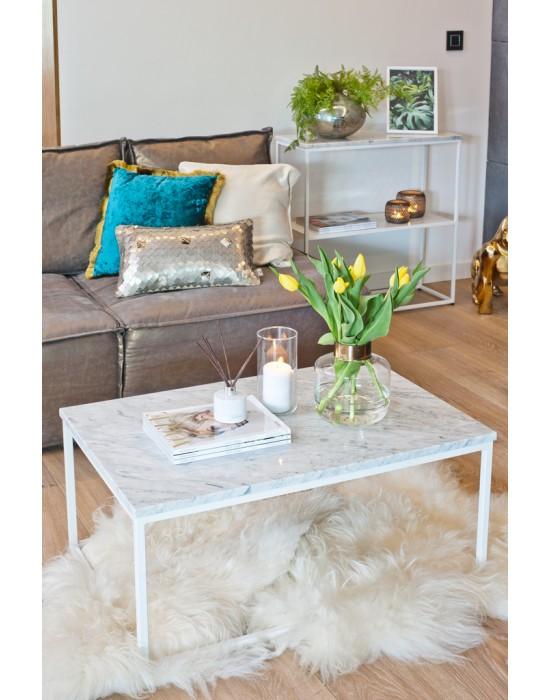 MONA - Komplet stolików z marmurowym blatem