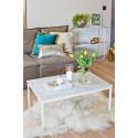 CONSTANCE - biały stolik z marmurowym blatem