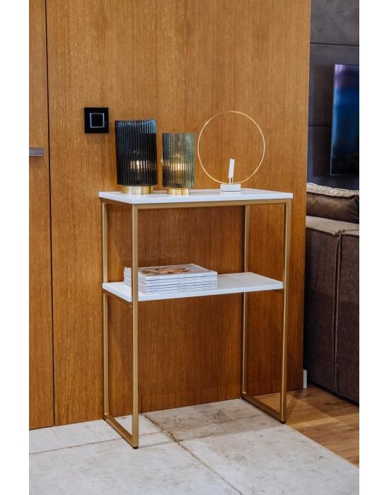 GIA - złota konsola z półką