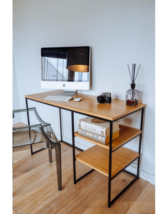 KELLY - biurko z półkami