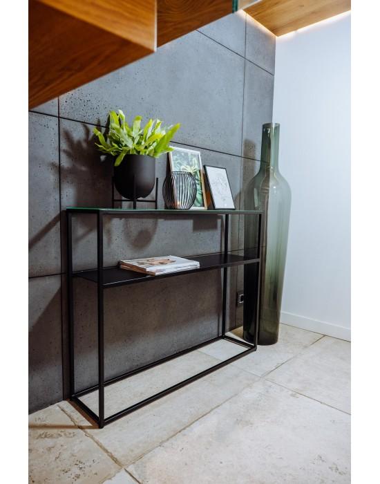 MULAN - konsola z półką i szklanym blatem