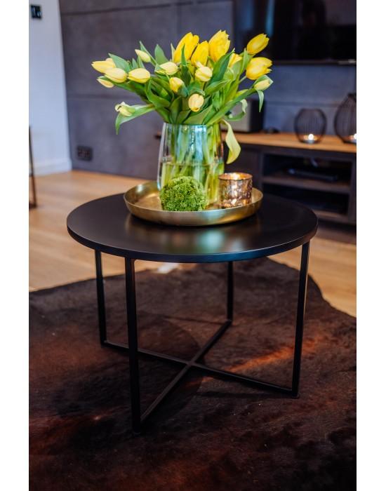 STELLA BLACK - czarny okrągły stolik