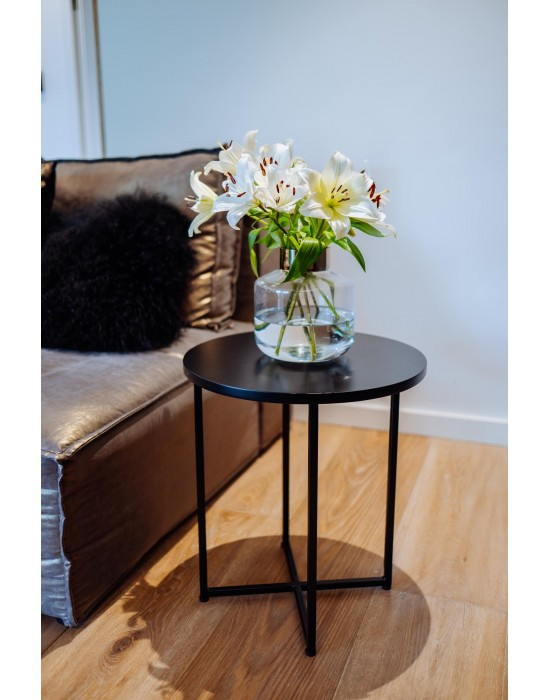 STELLA BLACK MINI - czarny okrągły stolik