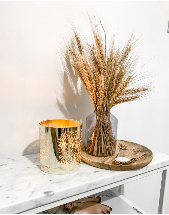 Złoty szklany świecznik