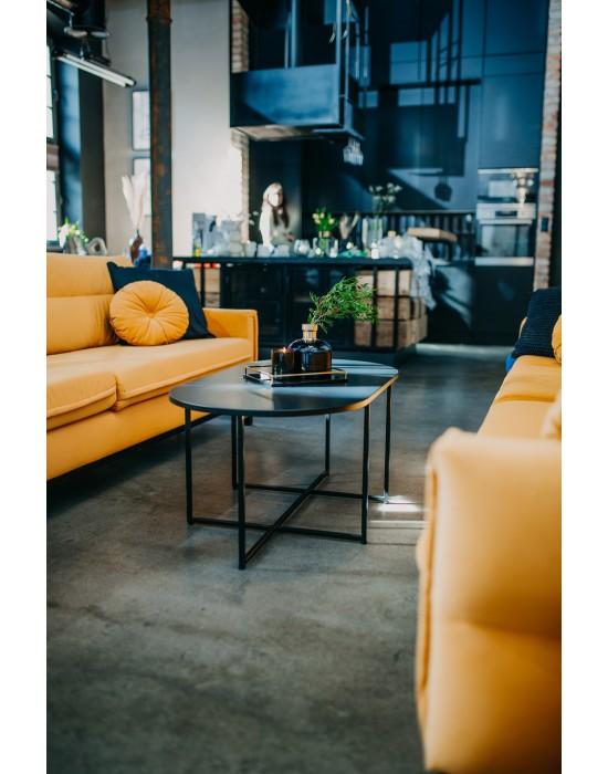 ANGELICA - stolik ELIPSA z czarnym matowym blatem
