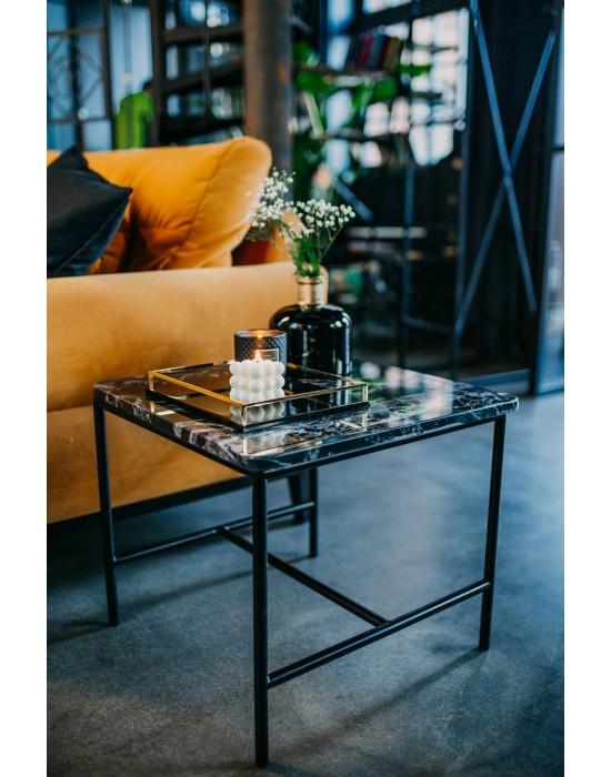 COLLEEN - stolik z czarnym marmurem