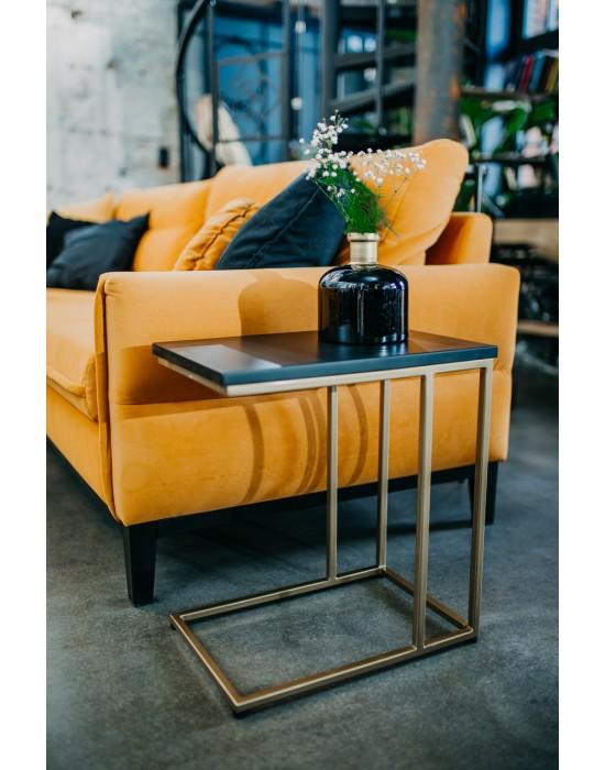 EVELYN - złoty stolik pomocniczy