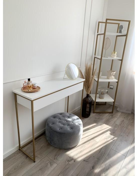 ESMA - biała toaletka na złotych nogach
