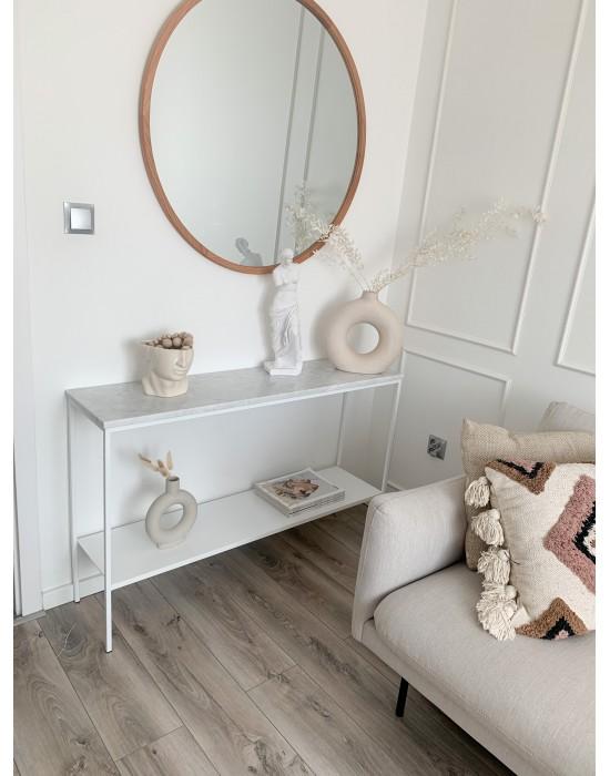 PHOEBE - toaletka z półką i blatem marmurowym